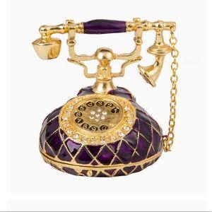 Hand Painted Telephone Jewellery Box